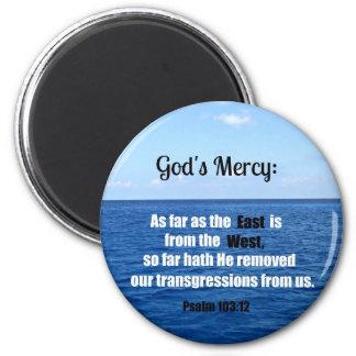 La misericordia de dios: 103:12 del salmo imán redondo 5 cm