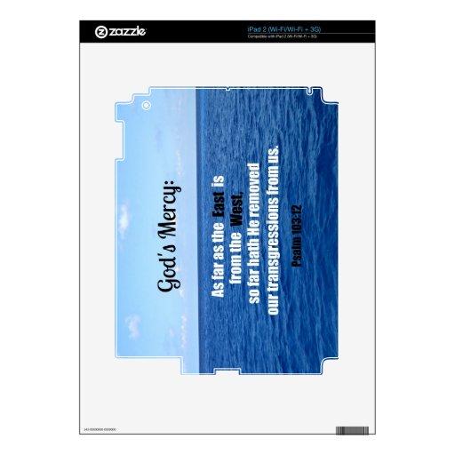 La misericordia de dios: 103:12 del salmo skins para iPad 2