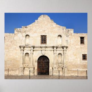 La misión de Álamo en el día moderno San Antonio, Póster