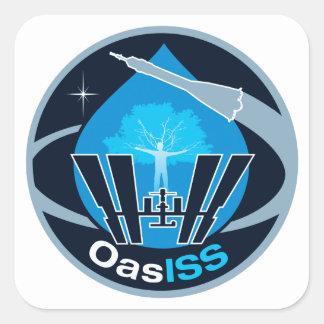 La misión de OASISS Calcomanía Cuadrada Personalizada