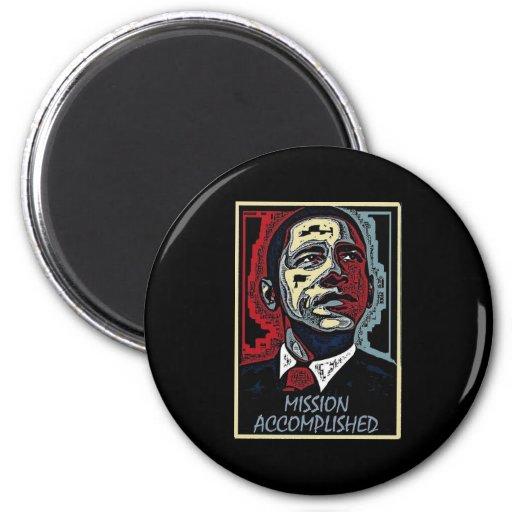 La misión de Obama logró 5 Imán Redondo 5 Cm
