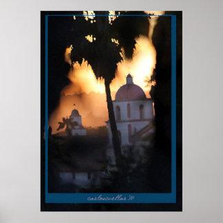 la misión de Santa Barbara Póster