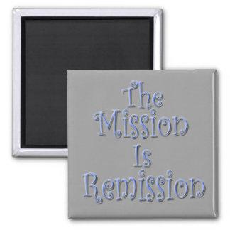 La misión es la remisión 3 imán cuadrado