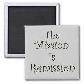 La misión es remisión imán cuadrado