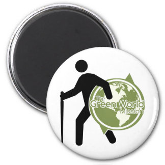 La misión verde del mundo imán redondo 5 cm