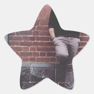 La misma foto de David Eynaud cada día Pegatina En Forma De Estrella