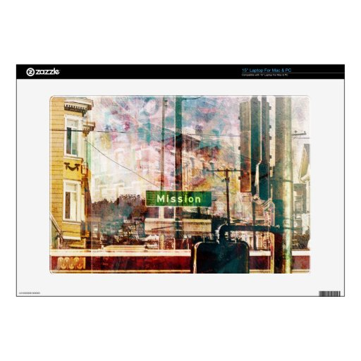 La Mission aka the District Vibe of SanFrancisco Laptop Decals