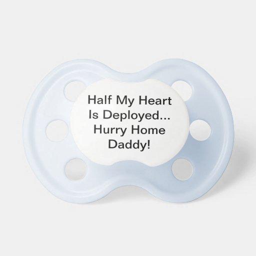 La mitad de mi corazón es papá desplegado del hoga chupetes