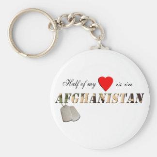 La mitad de mi corazón está en el llavero de Afgan