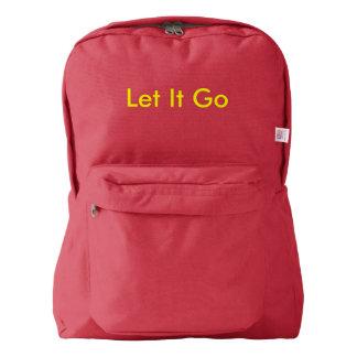 la mochila lo dejó ir