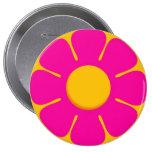 La mochila rosada RETRA de la flor fija los botone Pin