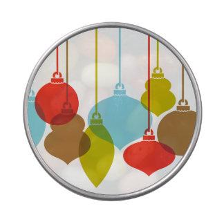 La MOD adorna la lata retra del caramelo del navid Frascos De Dulces