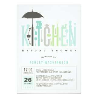 """La MOD almacena la cocina que el fiesta de ducha Invitación 4.5"""" X 6.25"""""""