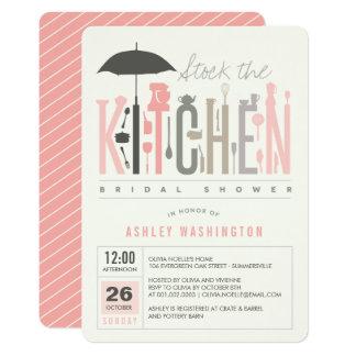 """La MOD almacena la cocina que el fiesta de ducha Invitación 5"""" X 7"""""""