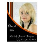 La MOD anaranjada y negra raya la postal de la gra