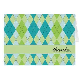 La MOD Argyle le agradece las tarjetas