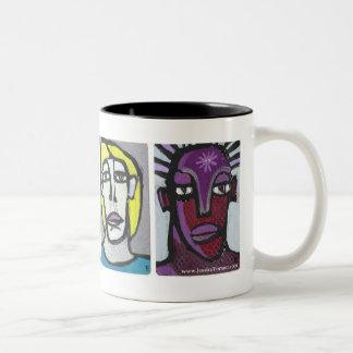 La MOD ASALTA las caras modernas #17 cuatro de Jes Tazas De Café