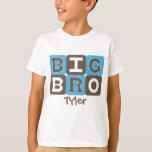 La MOD bloquea Bro grande - azul y Brown Playera
