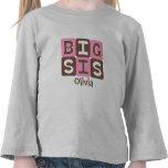 La MOD bloquea el SIS grande - rosa y Brown Camiseta