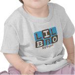 La MOD bloquea Lil Bro - azul y Brown personalizad Camiseta