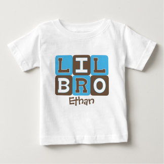 La MOD bloquea Lil Bro - azul y Brown Playera Para Bebé