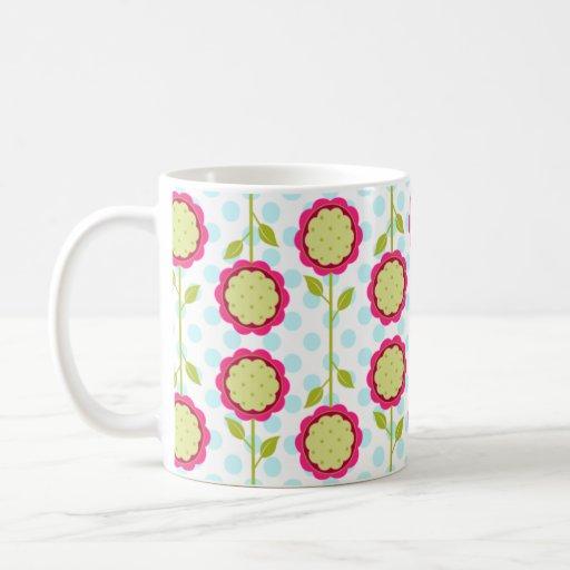 La MOD florece taza de Cofee