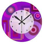 La MOD púrpura ajusta el extracto de los círculos Relojes De Pared
