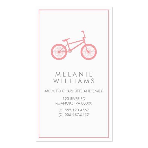La MOD se ruboriza bicicleta rosada Tarjetas De Negocios