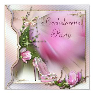 "La moda calza la mariposa Bachelorette de la Invitación 5.25"" X 5.25"""
