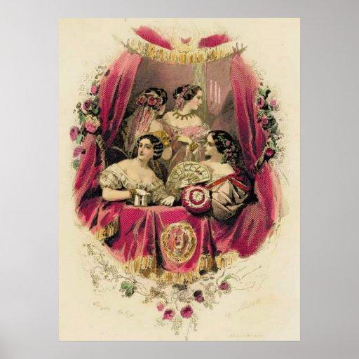 La moda de las mujeres de la era del Victorian Póster