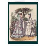 La moda de las mujeres de la era del Victorian Tarjetas