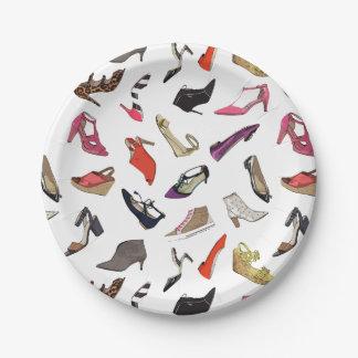 La moda de moda calza las placas de papel plato de papel de 7 pulgadas