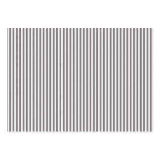 La moda del blanco gris del vintage raya el modelo tarjetas de visita grandes