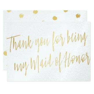 """La moda del oro """"le agradece por ser mi criada del invitación 5"""" x 7"""""""