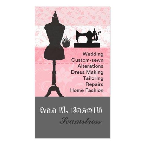 La moda del vintage hace la costura a mano floral tarjetas de visita