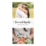 La moda el | de Boho que se casa le agradece Tarjeta Fotográfica Personalizada
