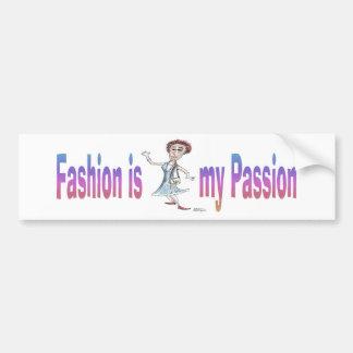 La moda es mi pasión pegatina para auto