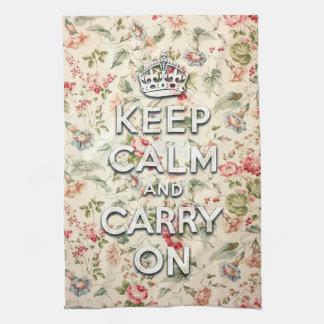 La moda lamentable guarda calma y continúa toallas de mano