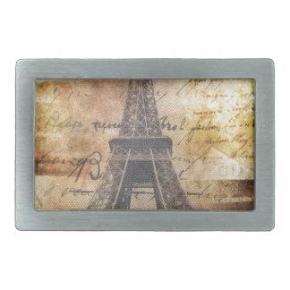 la moda lamentable Scripts la torre Eiffel de Hebilla De Cinturón Rectangular