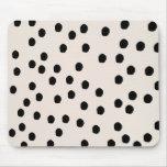La moda negra y blanca puntea Mousepad