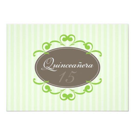 La moda raya la invitación de Quinceanera (la