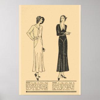 La moda retra del francés del vintage, día viste 1 póster