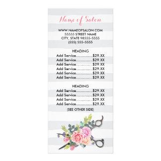 La moda Scissors la lista de precios de los rosas Tarjetas Publicitarias Personalizadas