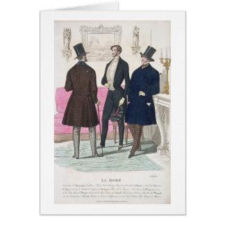 La Mode: Advertisement for 19th Century Men's Fash Card