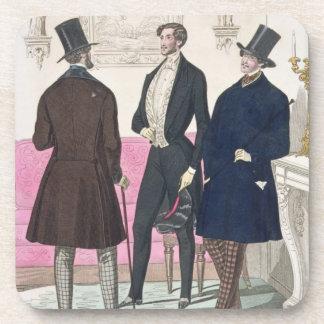 La Mode: Advertisement for 19th Century Men's Fash Coasters