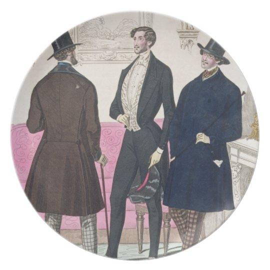 La Mode: Advertisement for 19th Century Men's Fash Melamine Plate