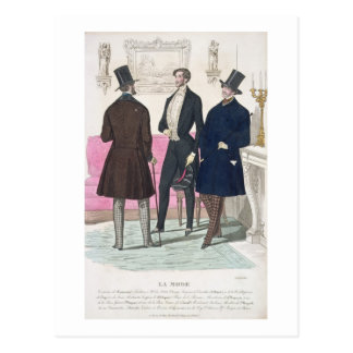 La Mode: Advertisement for 19th Century Men's Fash Postcard