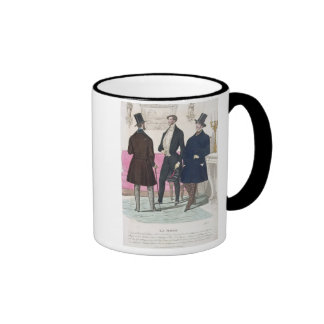 La Mode: Advertisement for 19th Century Men's Fash Ringer Mug