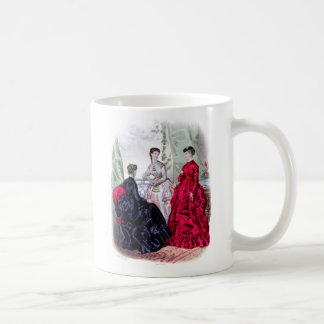 La Mode Illustree Aubergine and Ruby Gowns Coffee Mug