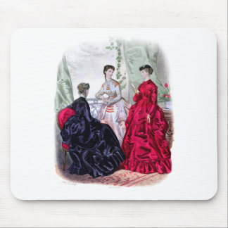La Mode Illustree Aubergine and Ruby Gowns Mouse Pad
